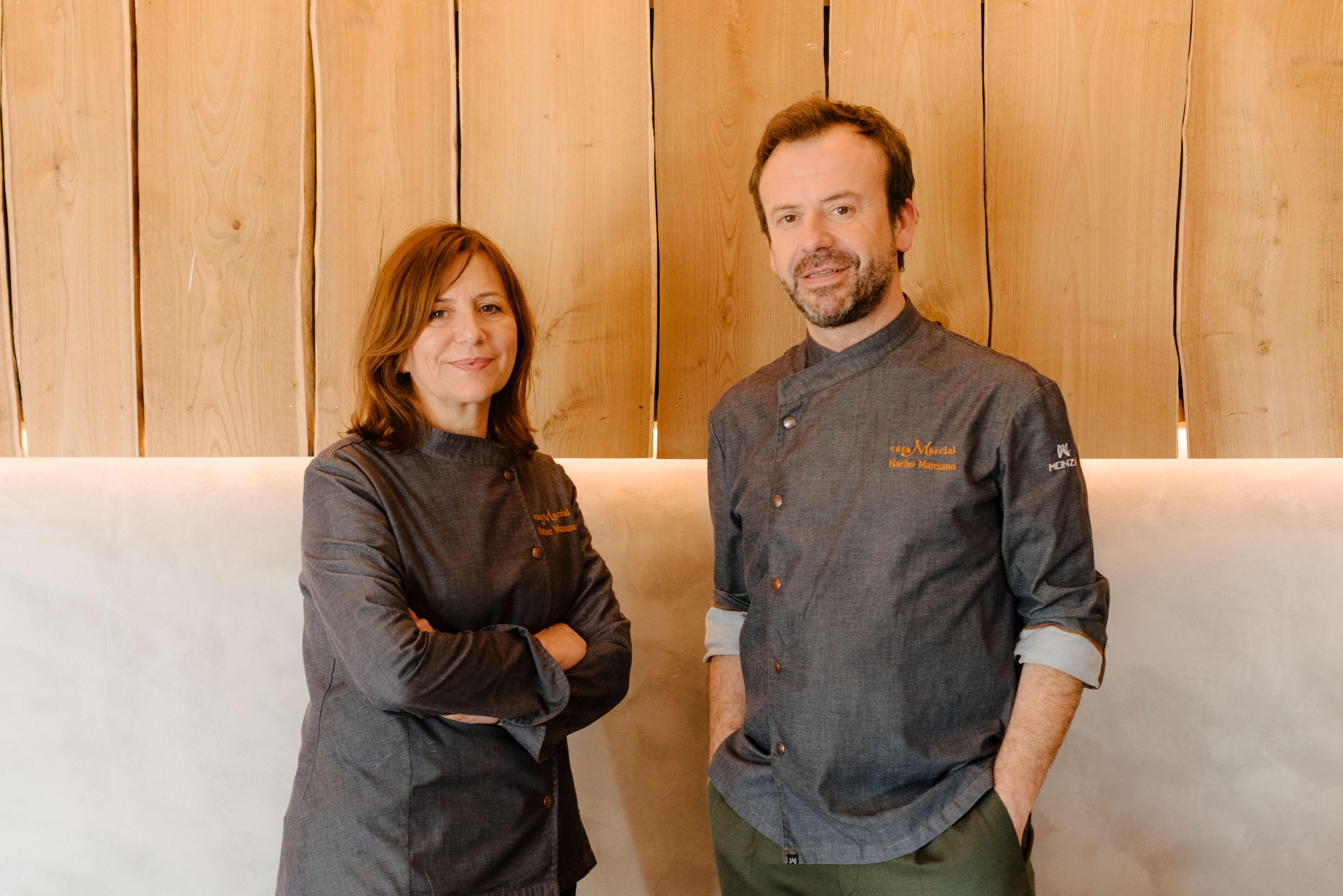 Chefs Esther and Nacho Manzano